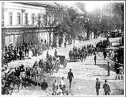 Romanian troops in Budapest 1919