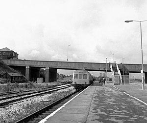 Rose Grove railway station - Rose Grove railway station in 1985