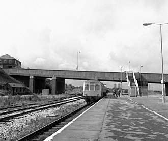 Rose Grove railway station - Rose Grove railway station in 1985