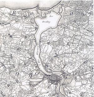 Unterwarnow - Unterwarnow on the map of 1788