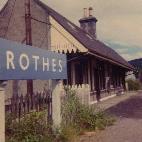 Rothes Railway Station with Station Name