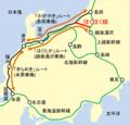 Route comparison between Tokyo and Hokuriku ja.png
