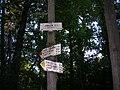 Rozcestník Zálesí, Klánovický les.jpg