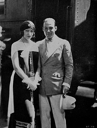 Natacha Rambova - Rambova with Valentino in 1925