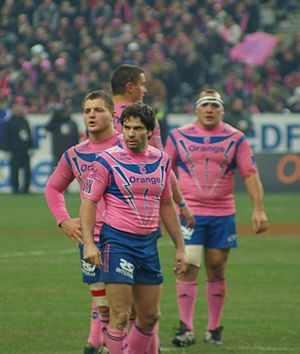 Christophe Dominici - Playing for Stade Français in 2008