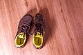 Running Shoes on hardwood floor (27833845501).jpg
