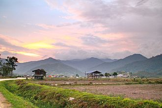 Bario - View of Bario during sunset