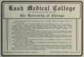 """Rush Medical College in affiliation with the University of Chicago (""""American medical directory"""", 1906 advert).png"""