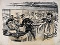 Russo-Japanese War; a field hospital ward with an inspection Wellcome V0015660.jpg