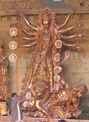 S344 durga-idol-golden