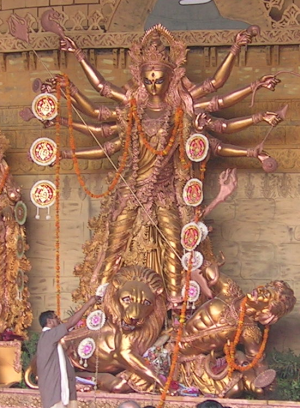 Mother goddess - Goddess Durga is seen as the supreme mother goddess by Hindus