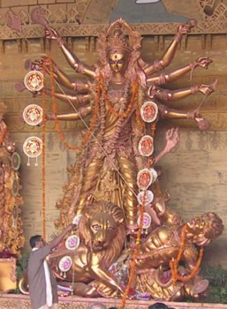 Mother goddess - Goddess Durga is seen as the supreme mother goddess by Hindus