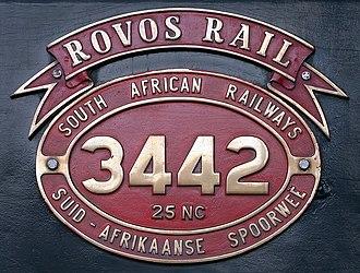 South African Class 25NC 4-8-4 - Image: SAR Class 25NC 3442 (4 8 4) ID