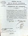 SERMENT PIERRE LEFORT LEGION HONNEUR 1820.JPG