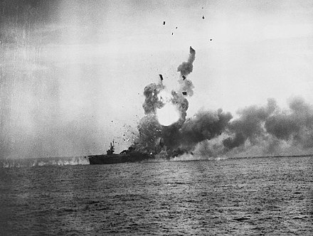 St Lo attacked by kamikazes, 25 October 1944 SL Exp 5.jpg