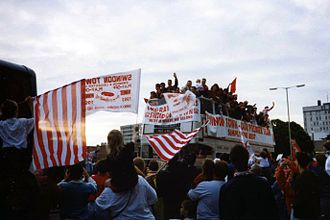 Swindon Town F.C. - Swindon Town's victory parade around the town on winning promotion to the Premier League in 1993