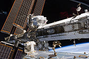 STS-134 the starboard truss of the ISS with the newly-installed AMS-02