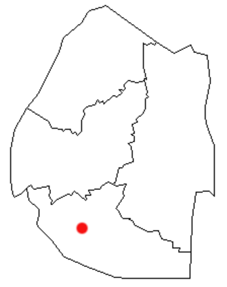 Hlatikulu - Location of Hlatikulu in Swaziland