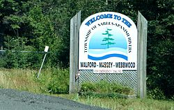 Welcome sign along Highway 17