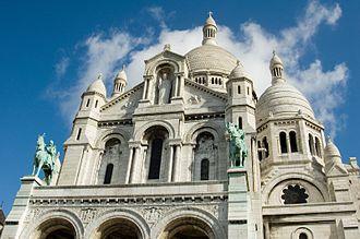 Sacré-Cœur, Paris - Gable above the main entrance