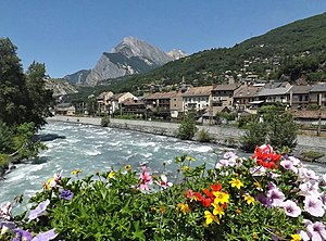 Saint-Michel-de-Maurienne - The Arc river in Saint-Michel-de-Maurienne