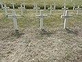 Saint-Rémy-la-Calonne (Meuse) nécropole nationale (07) trois tombes de la compagnie d'Alain-Fournier.JPG