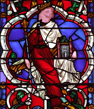 John of Beverley - Stained glass window depicting John in Beverley Minster
