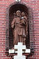 Saint Joseph Church (Egypt, Ohio) - exterior, statue of St. Joseph and Christ Child.jpg
