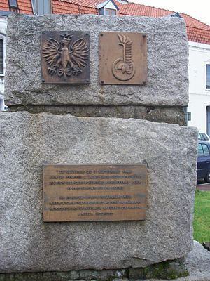 1st Armoured Division (Poland) - Memorial in Saint Omer to the Polish 1st Armoured Division.