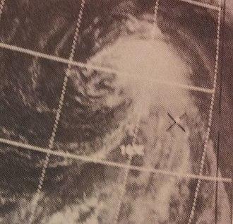 1970 Pacific typhoon season - Image: Sally Jul 2119700430z ITOS1