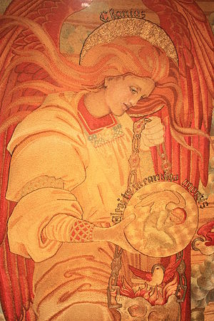 Phoebe Anna Traquair - Salvation of Mankind (detail) by Phoebe Anna Traquair, 1886 to 1893