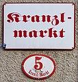 Salzburg, Straßenschild Kranzlmarkt, 2.jpeg