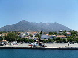 Kamariotissa, the main port of Samothrace