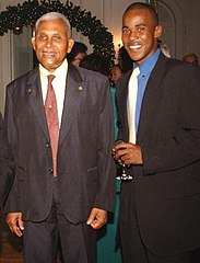 Sampson Nanton and former President of the Republic of Trinidad and Tobago,Arthur NR Robinson.jpg