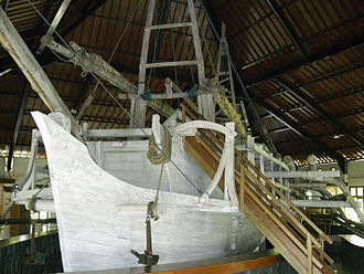 Borobudur ship - The reconstructed Borobudur ship as the centerpiece of Samudra Raksa Museum