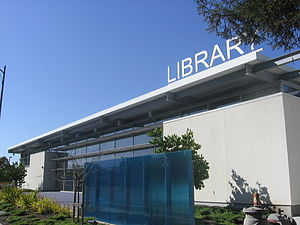 Santa Teresa, San Jose - The Santa Teresa branch library facing Santa Teresa Boulevard, 22 September 2012