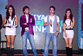 Sarah Jane Dias, Riteish Deshmukh, Tusshar Kapoor, Neha Sharma at the Audio release of 'Kyaa Super Kool Hain Hum' 04.jpg