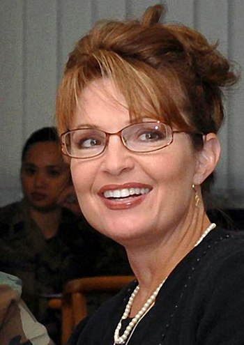 English: Gov. Sarah Palin has breakfast and vi...