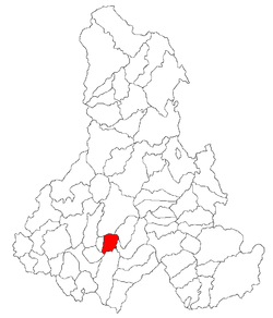Location of Satu Mare, Harghita