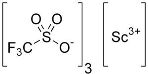 Scandium(III) trifluoromethanesulfonate - Image: Scandium triflate