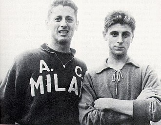 Gianni Rivera - Rivera with Juan Schiaffino.