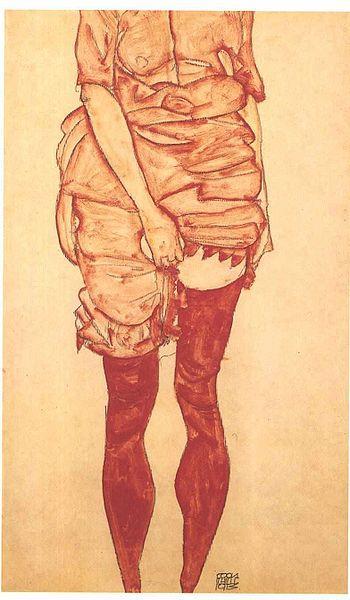 File:Schiele - Stehende Frau in Rot - 1913.jpg