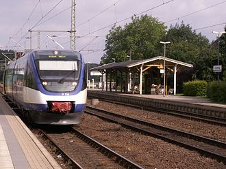 Schleswig station - NOB train to Kiel