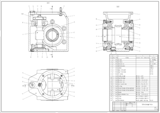 Computer-aided design - Example: 2D CAD drawing