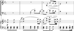 Instrumentation (music) - Schubert Trio in E flat, second movement, bars 86-89