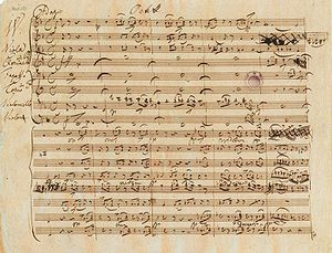 Octet (music) - Autograph manuscript score of Schubert's Octet