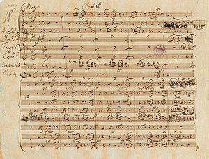 Octet (Schubert) - Schubert's autograph of the Octet in F (D.803)