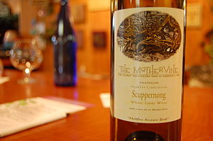 Scuppernong - A North Carolina wine made from the Scuppernong grape
