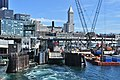 Seattle - Colman Dock ferry slip number 2 & Smith Tower.jpg