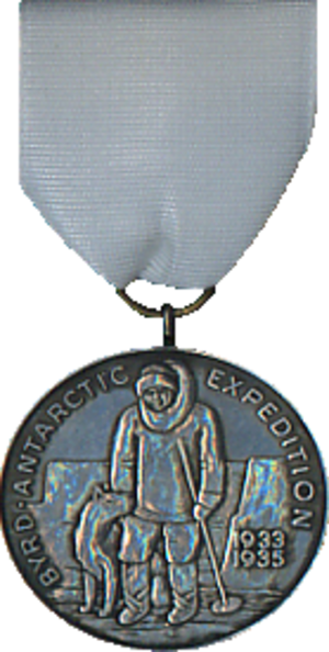 Second Byrd Antarctic Expedition Medal - Image: Second Antarctic Expedition Medal